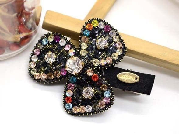 Butterfly hair slide with sparkling sequins.  CL45